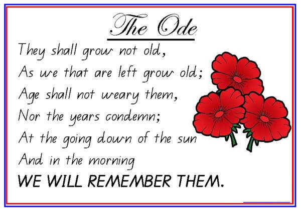 lest We Forget Remembrance Day Poem Pics