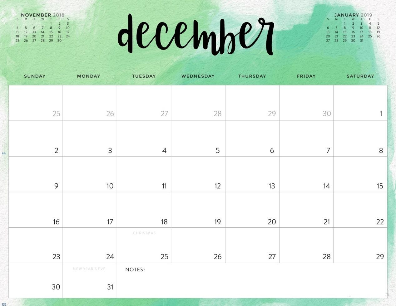 picture regarding December Printable Calendar Pdf called 2018 December Calendar In just Printable Pdf, Term, Excel Template