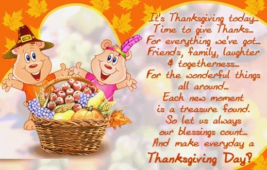 Thanksgiving Greetings Free Message