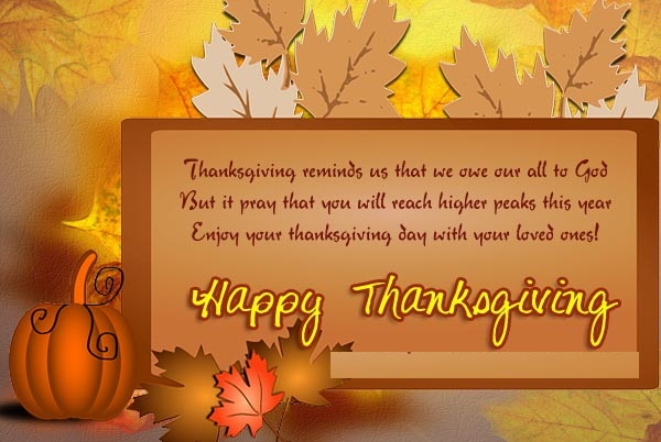 Thanksgiving Message Chruch Celebration
