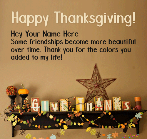 Thanksgiving Wishes Greeting Cards Wallpaper