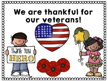 Thankyou Veterans Day Poster For Kids