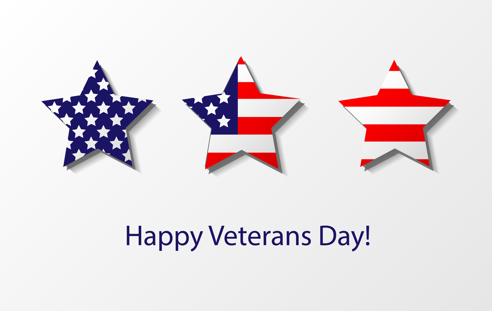 Veterans Day Poster Banner With Quotes