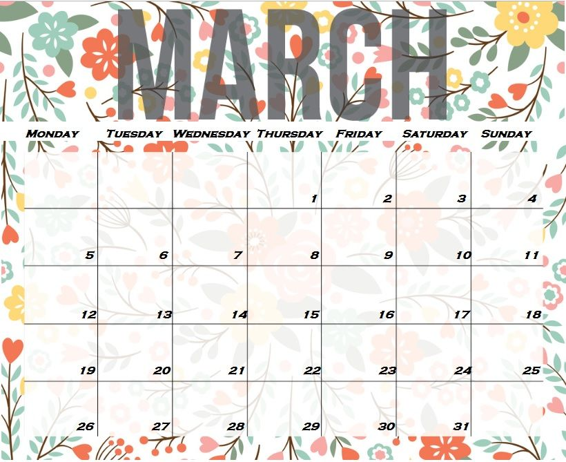 photo relating to Calendar March Printable identified as March 2019 Calendar Printable Template With Vacations