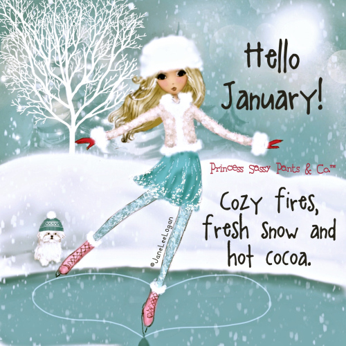 Cute Hello January Pics Free Download