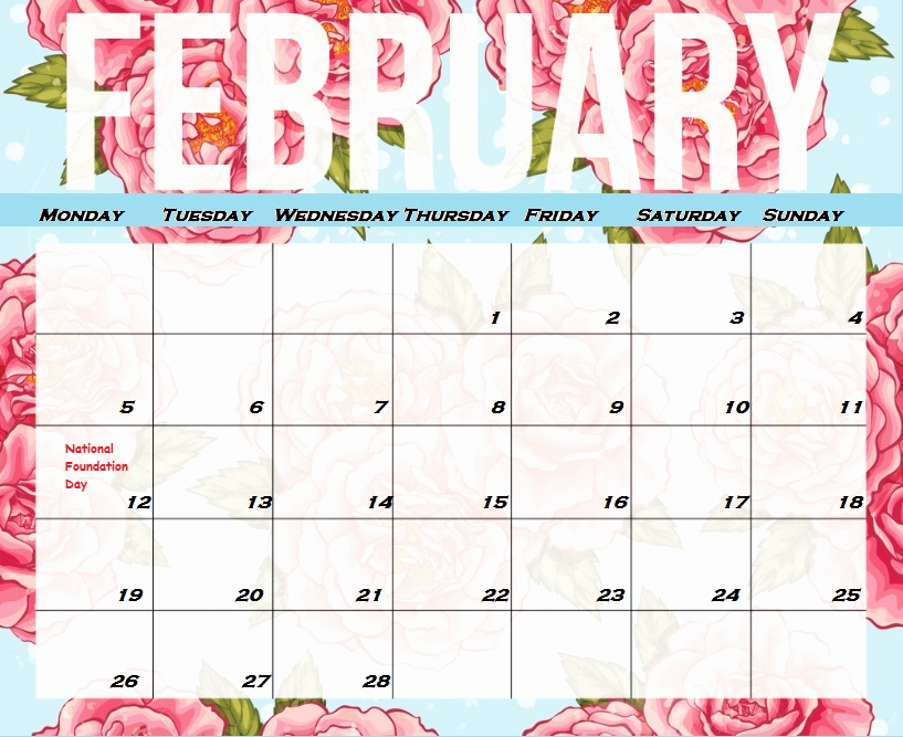 Free February 2019 Calendar Printable With Monthly And Weekly Planner