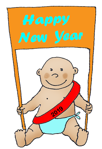 Happy New Year Baby Clipart