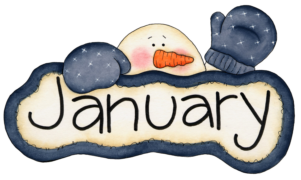 Hello January Clipart