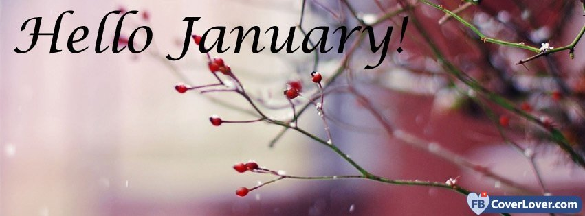 Hello January Facebook Cover Photos
