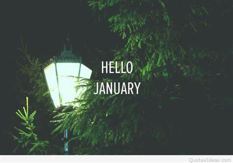 Hello January HD Wallpaper