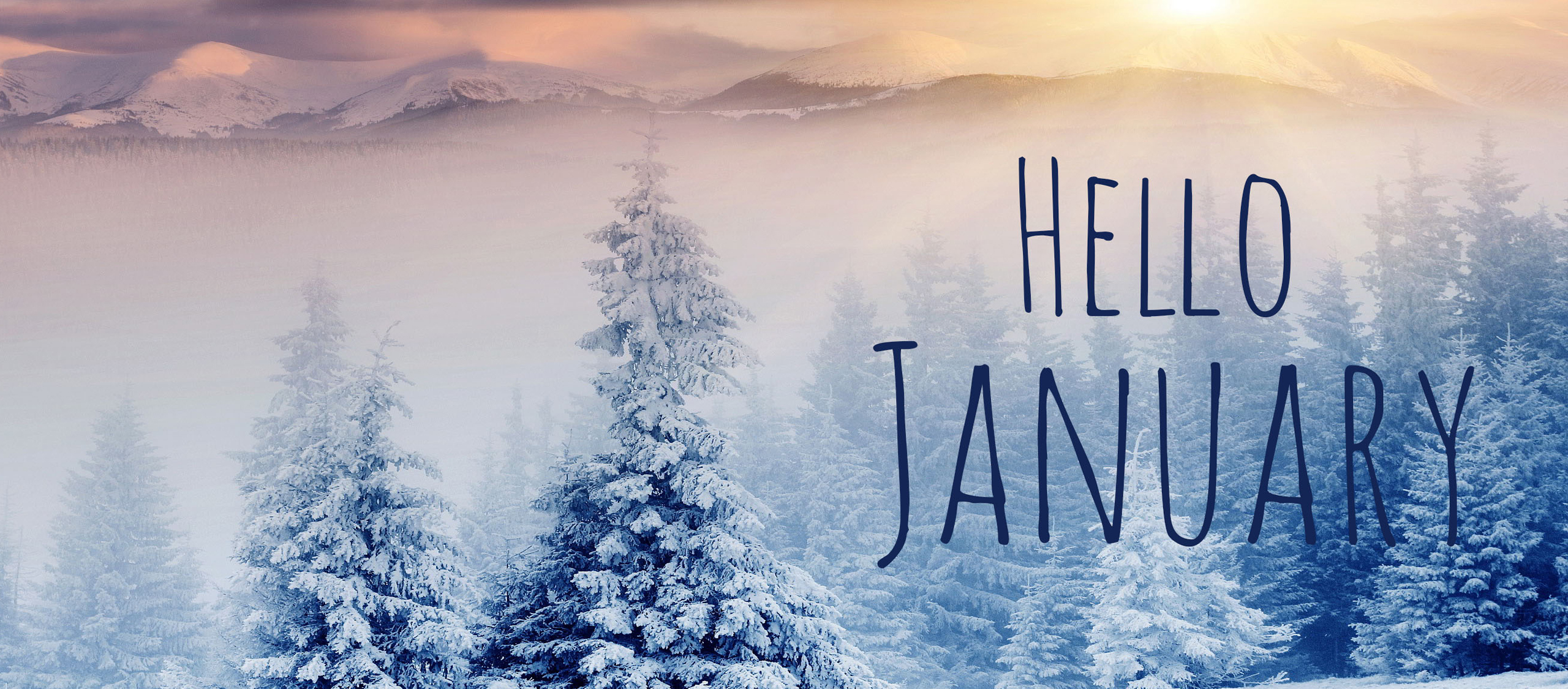 Hello January Images for Facebook