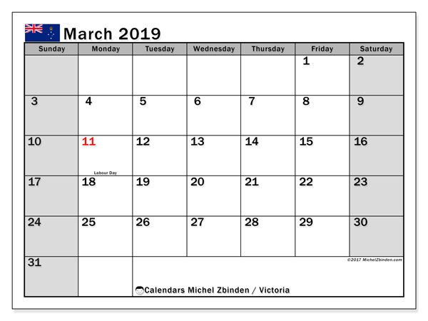 March 2019 Calendar With Holidays New Zealand