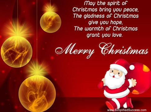 Merry Christmas Messages Cards