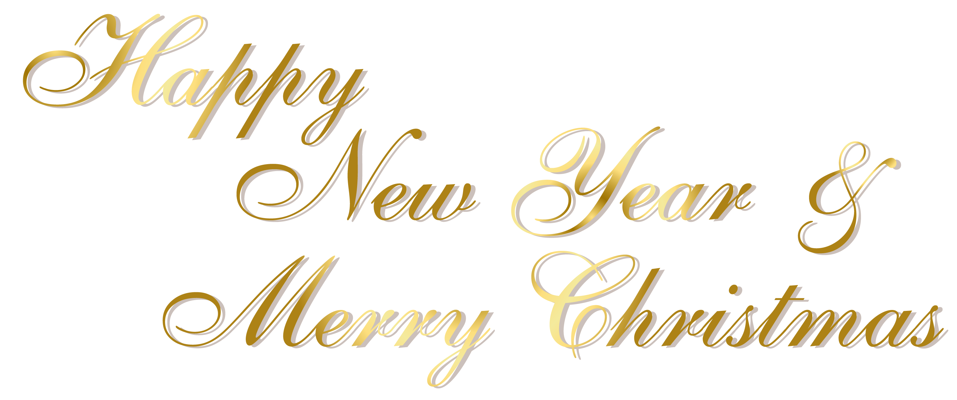 Merry Christmas and Happy New Year 2019 PNG