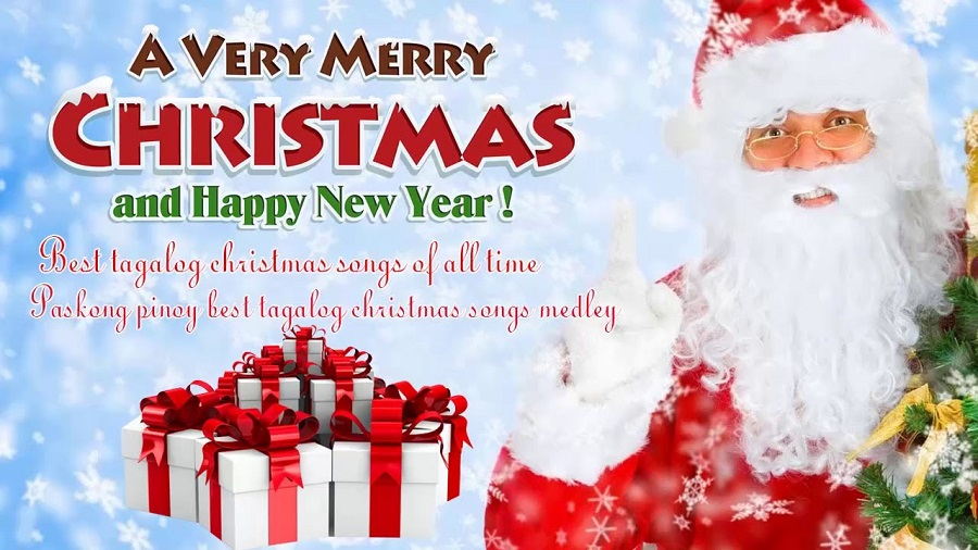 Wishes Merry Christmas and Happy New Year