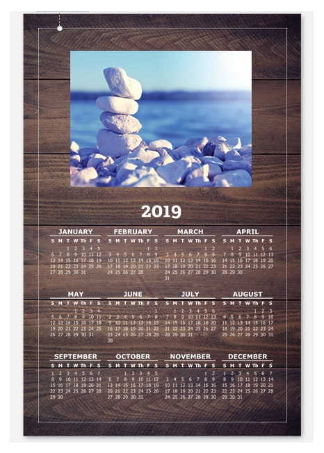 2019 Yearly Wall Calendar