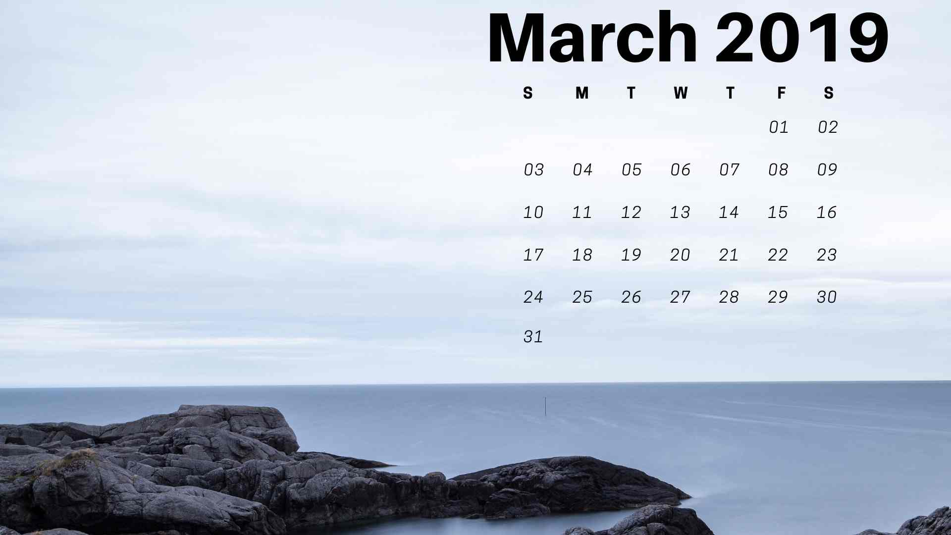 Beautiful March 2019 Calendar Wallpaper