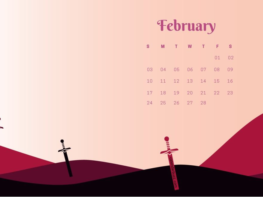 February 2019 Stylish Calendar Wallpaper