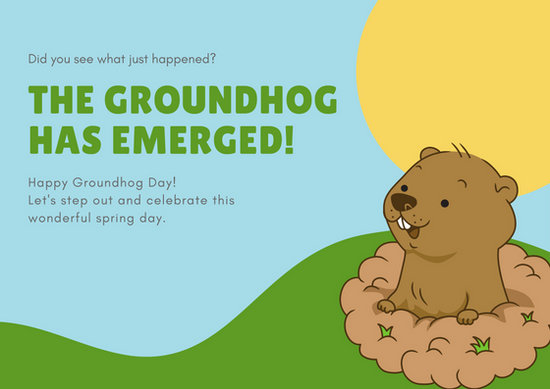 Free Groundhog Day Cards