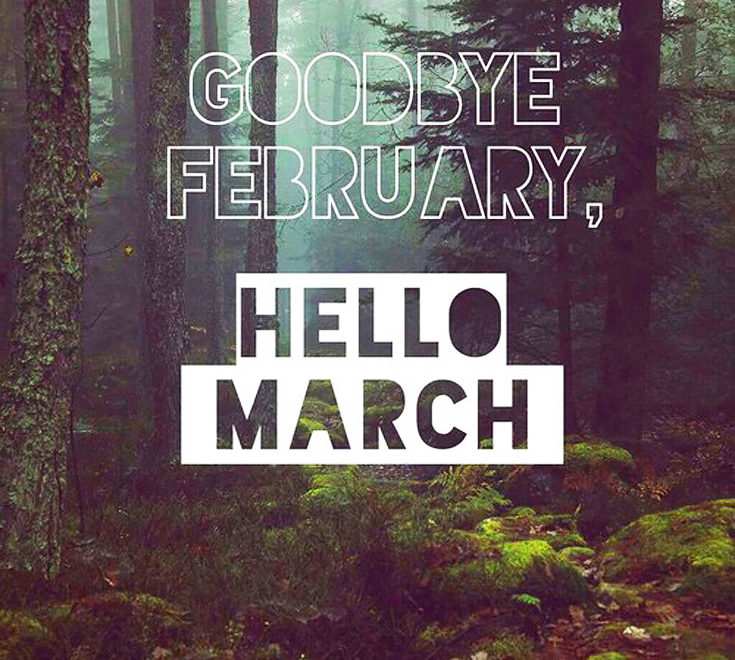 Goodbye February, Hello March Images