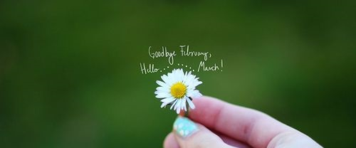 Goodbye February Hello March