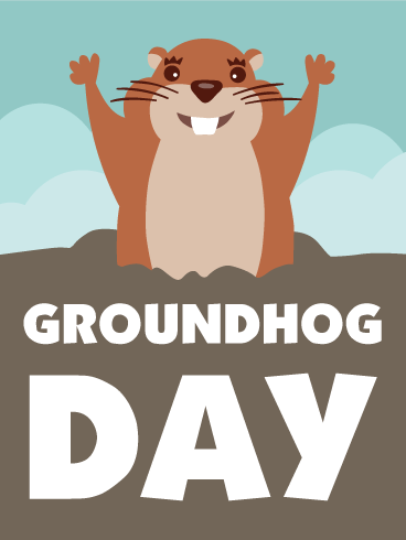 Groundhog Day Cards Printable