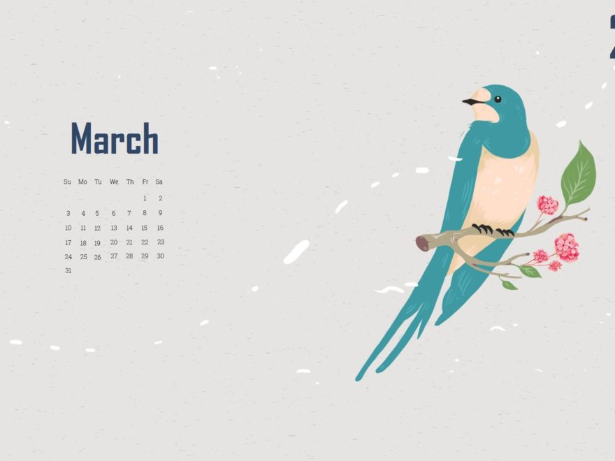 March 2019 Desktop Calendar
