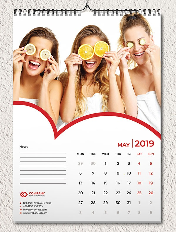 May 2019 Wall Calendar Printable