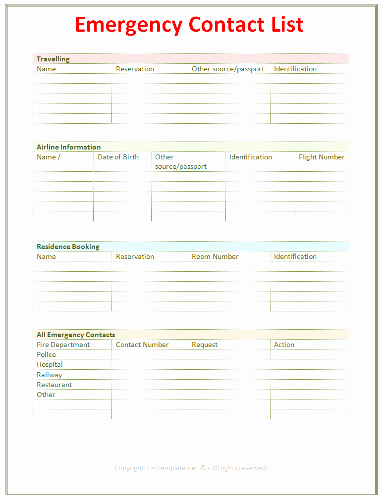 Password Log Template PDF