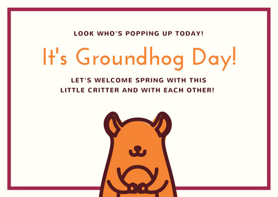 Vintage Groundhog Day Cards