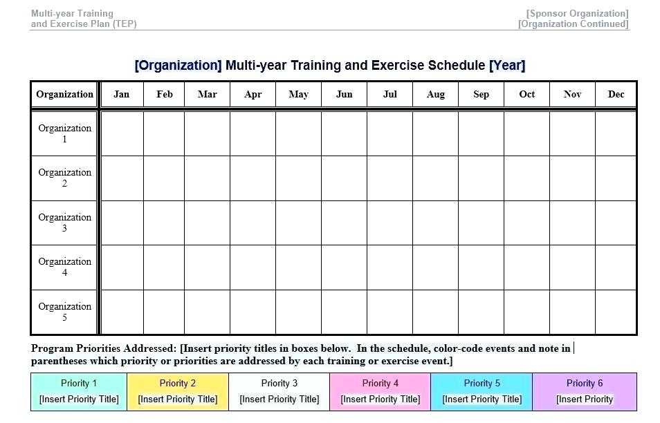 Exercise Planner Template
