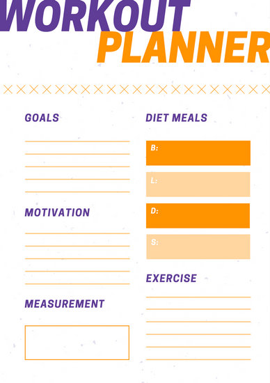Meal and Exercise Planner Template