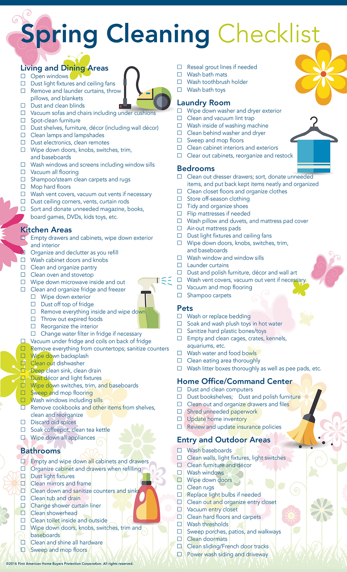 Spring Cleaning Checklist Australia
