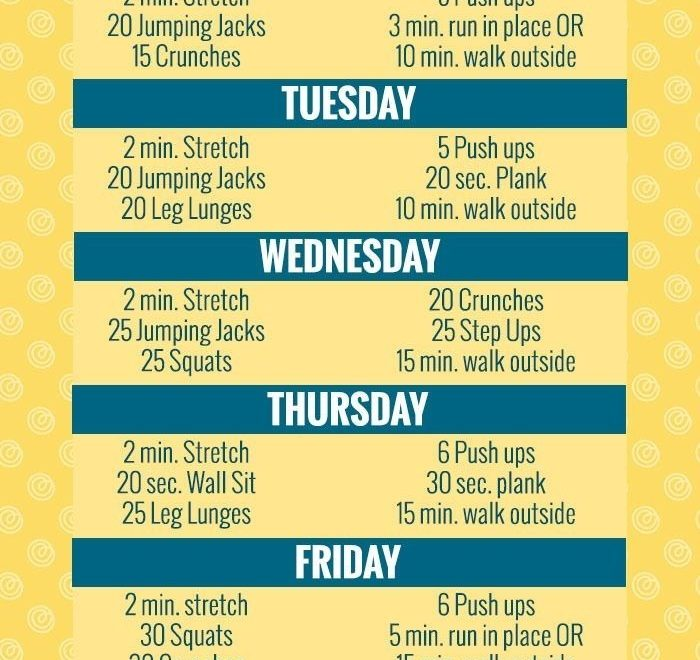 Weekly Workout Plan for Men