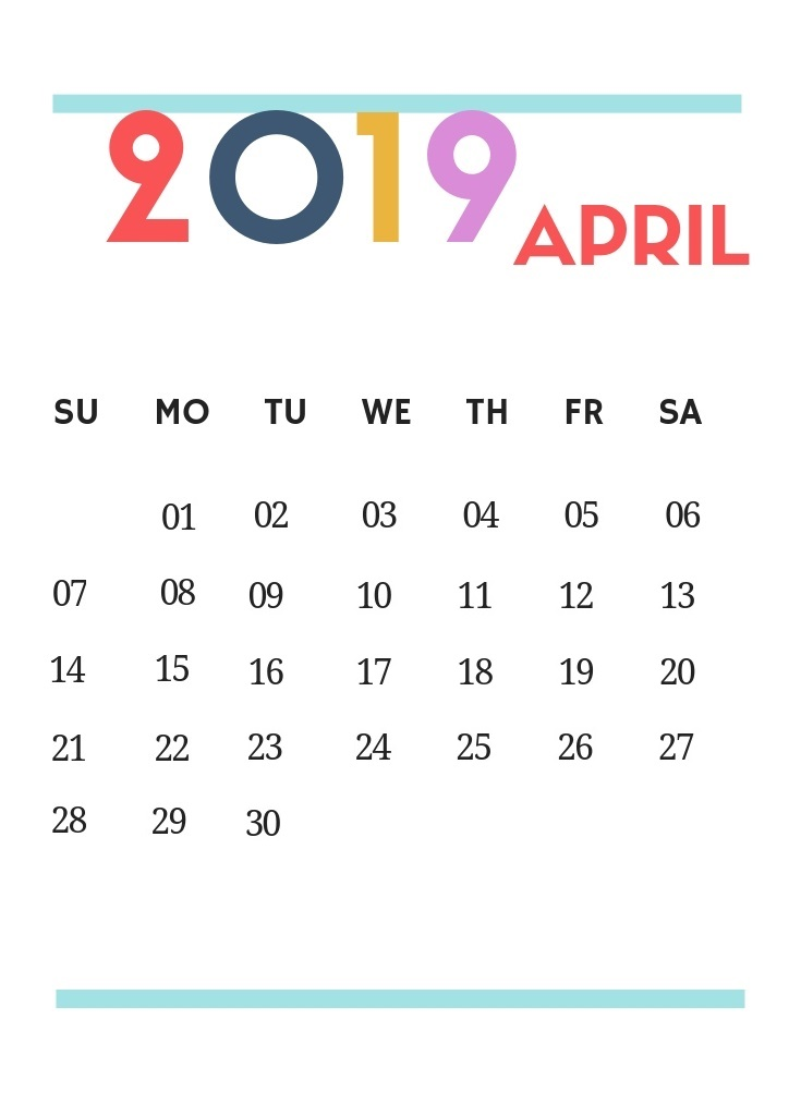 April 2019 Best Wall Calendar