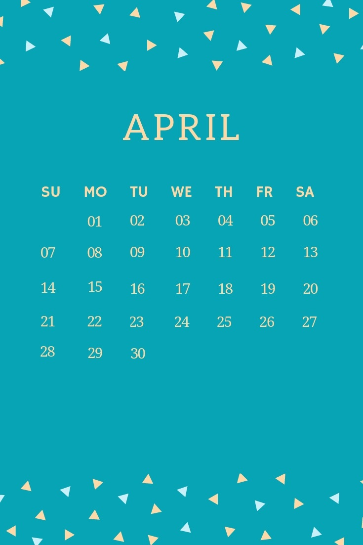 April 2019 Unique Wall Calendar