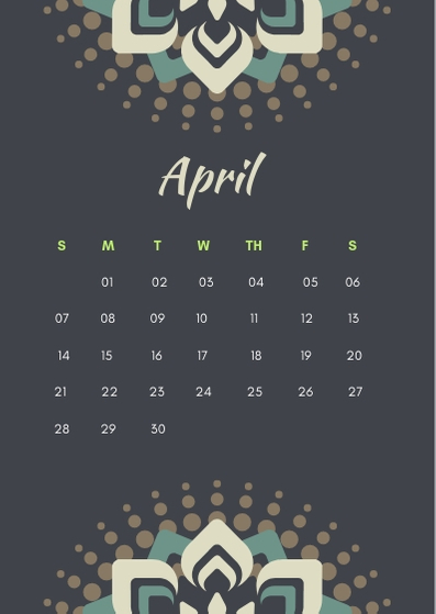 April 2019 iPhone Calendar Wallpaper