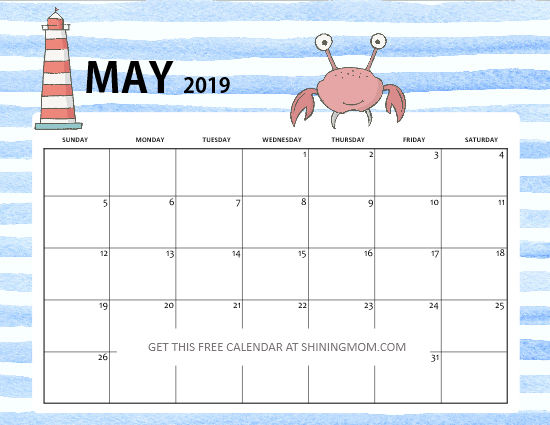 Cute May 2019 Calendar Tumblr
