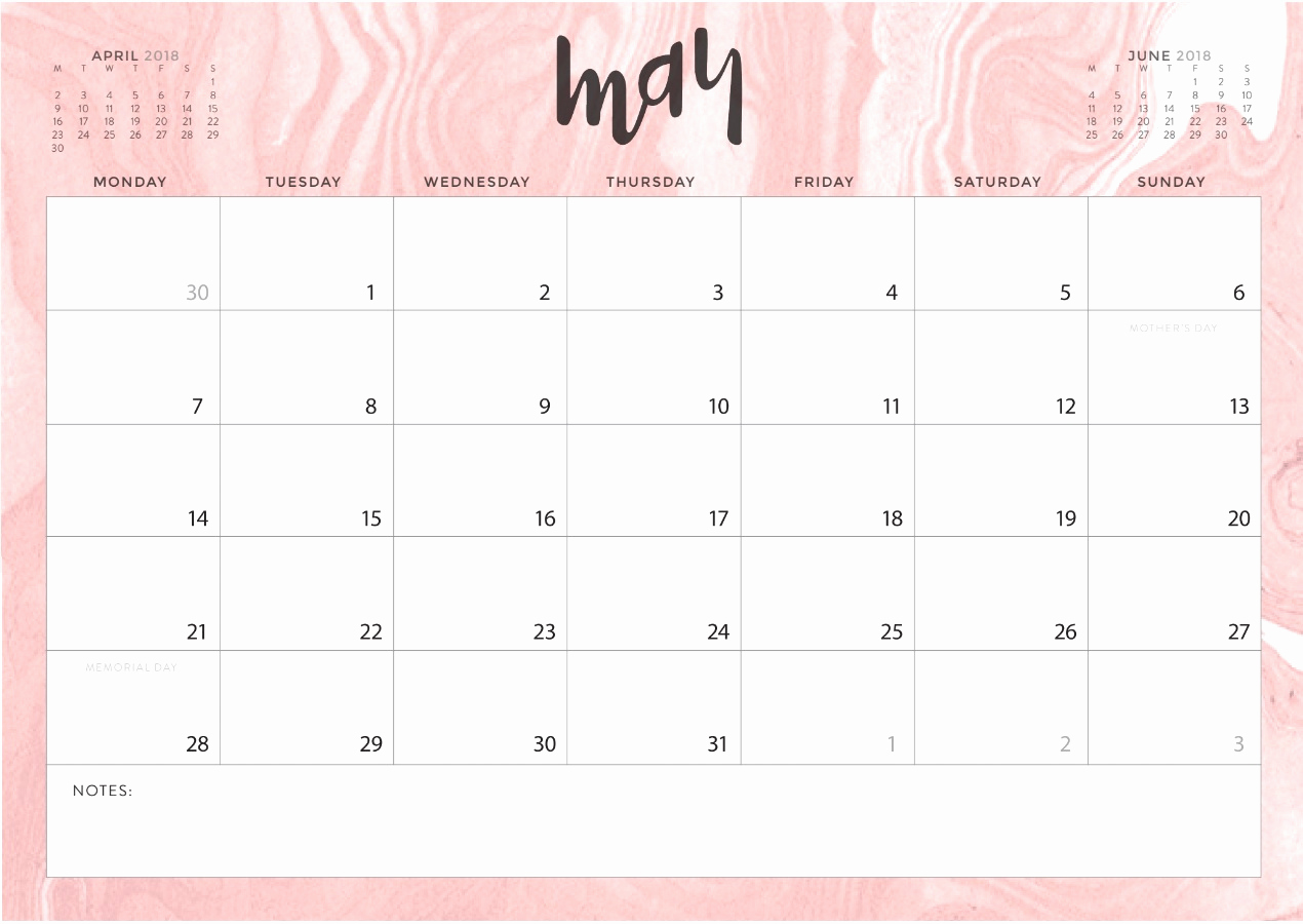 Cute May 2019 Desk Calendar