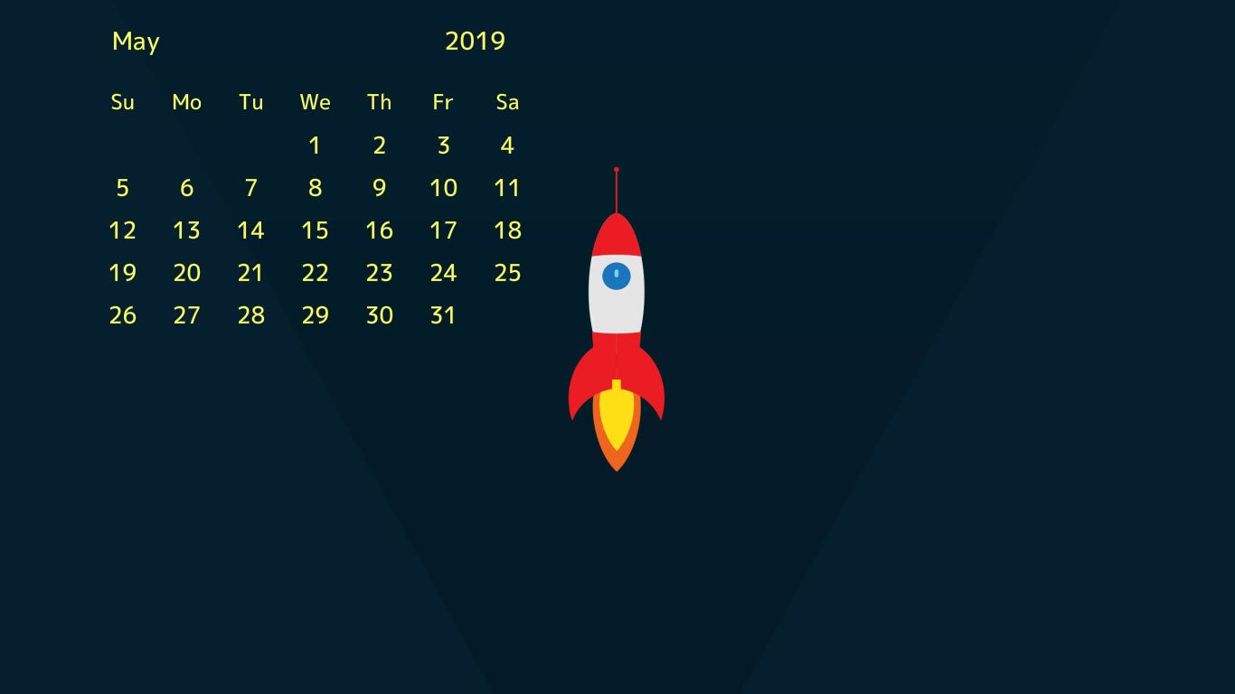 Desktop Calendar Wallpaper May 2019