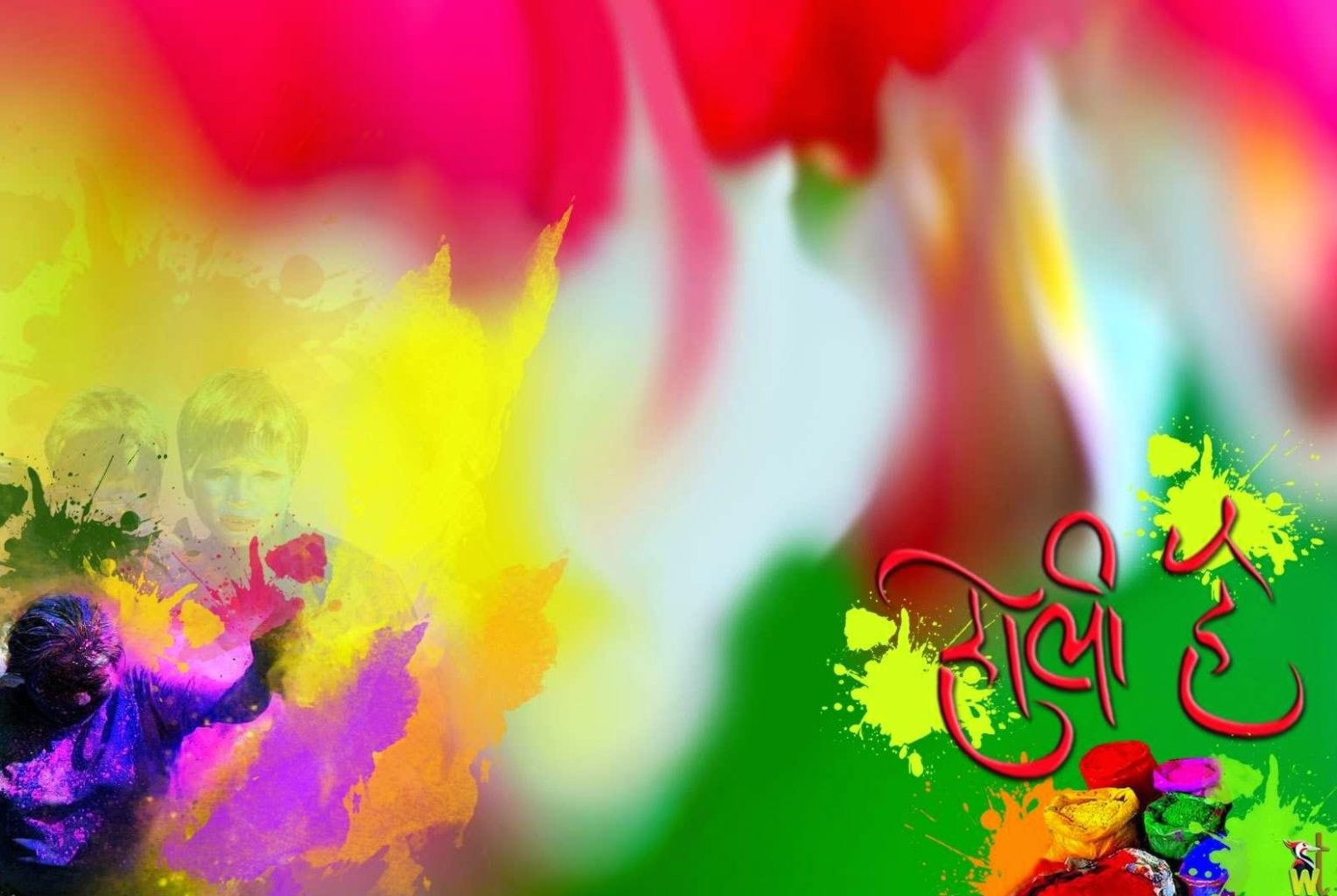 Happy Holi Facebook Status Image
