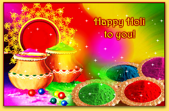 Holi Beautiful Facebook Status Image