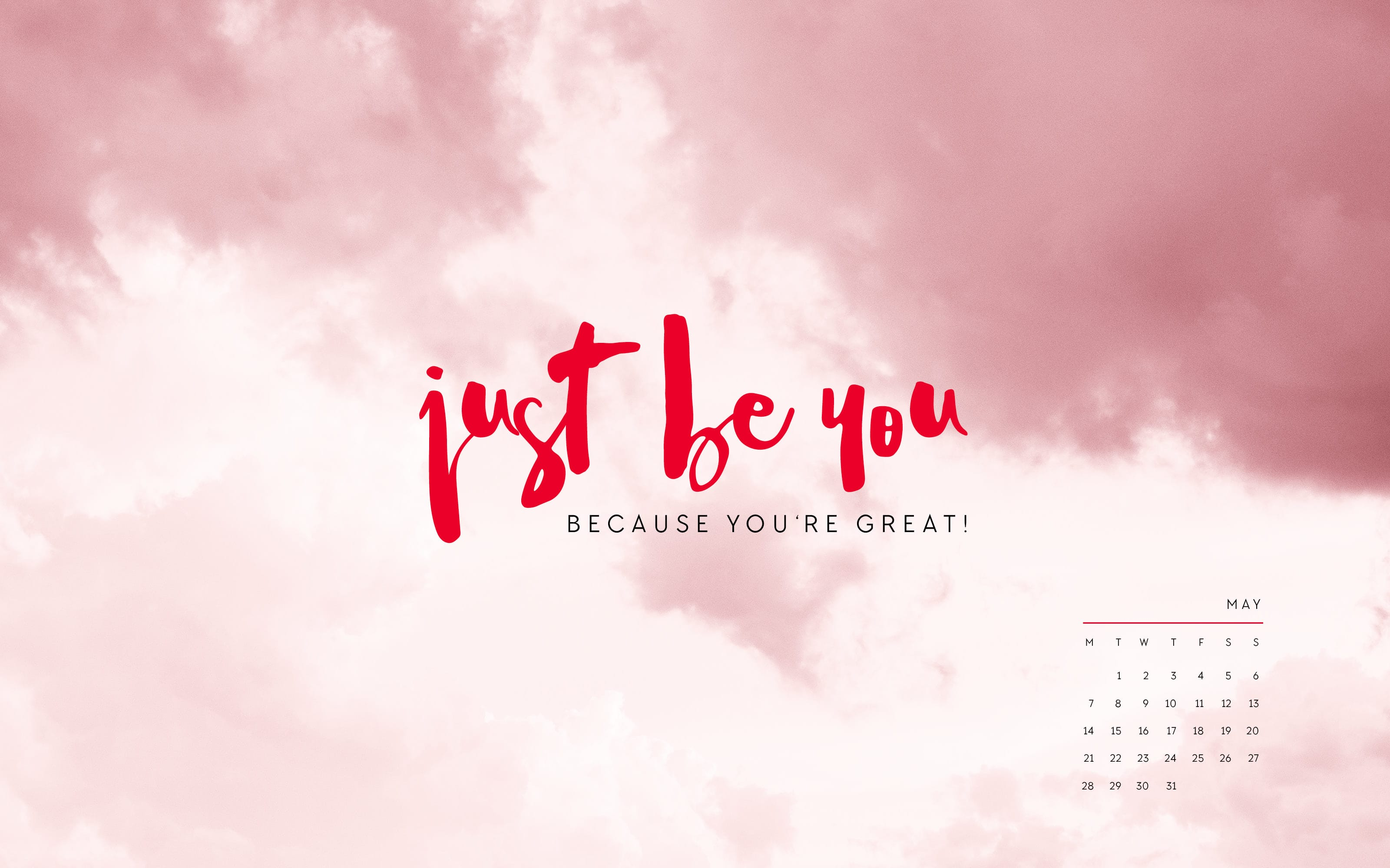 Inspirational May 2019 Desktop Calendar