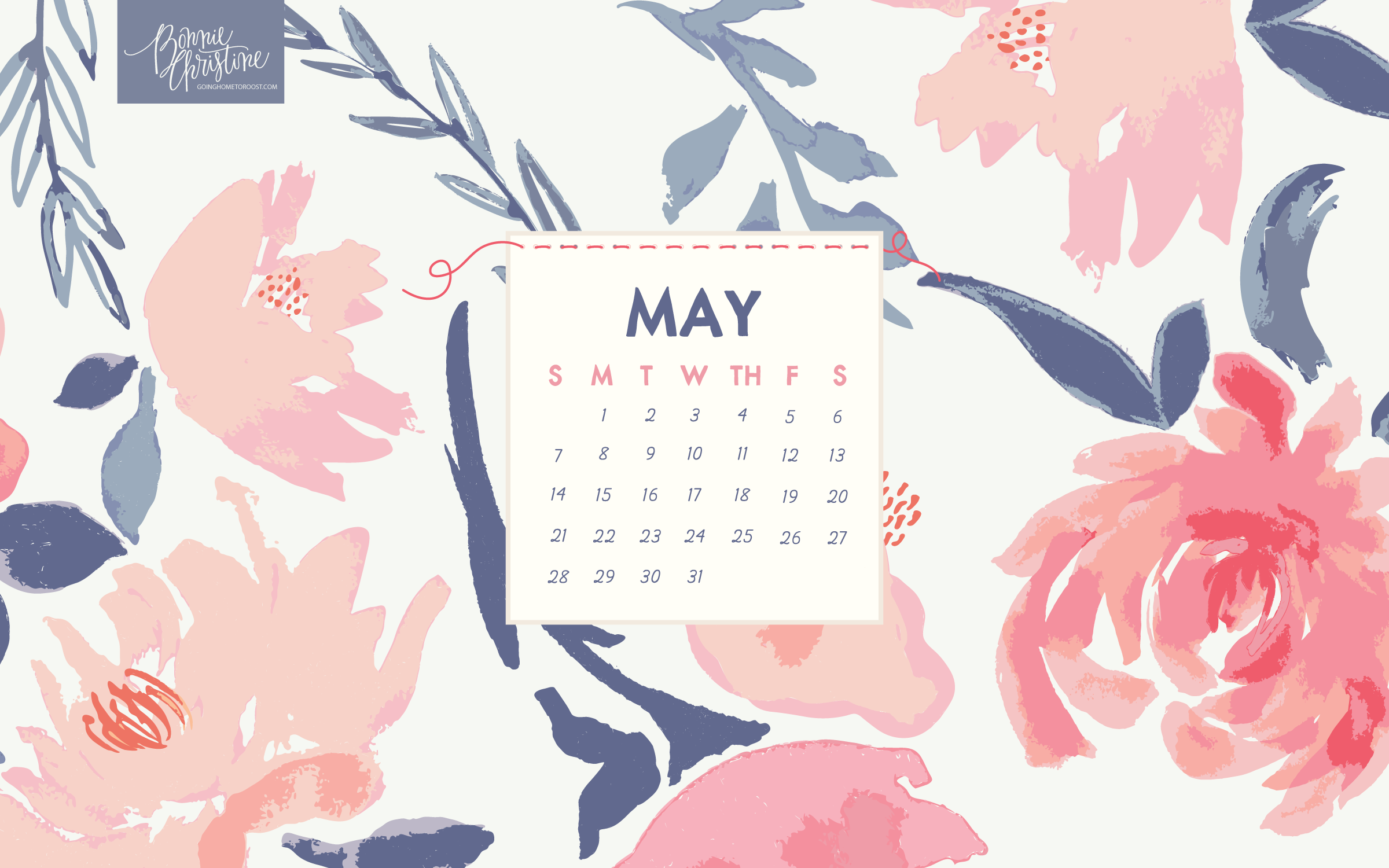 May 2019 Desktop Calendar