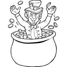 St Patricks Day Pictures to Colour