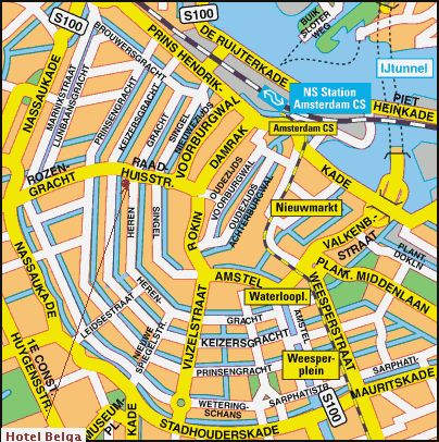 Amsterdam City Centre Map Image