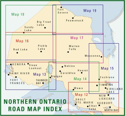 Free Northern Ontario Road Map