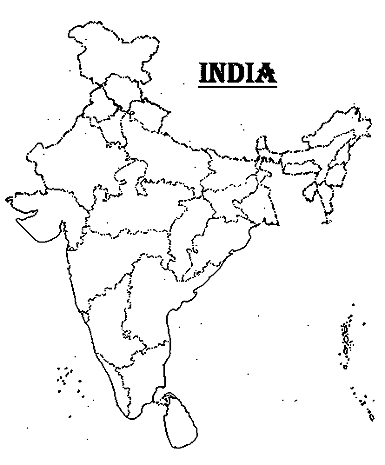 India Map With Outline