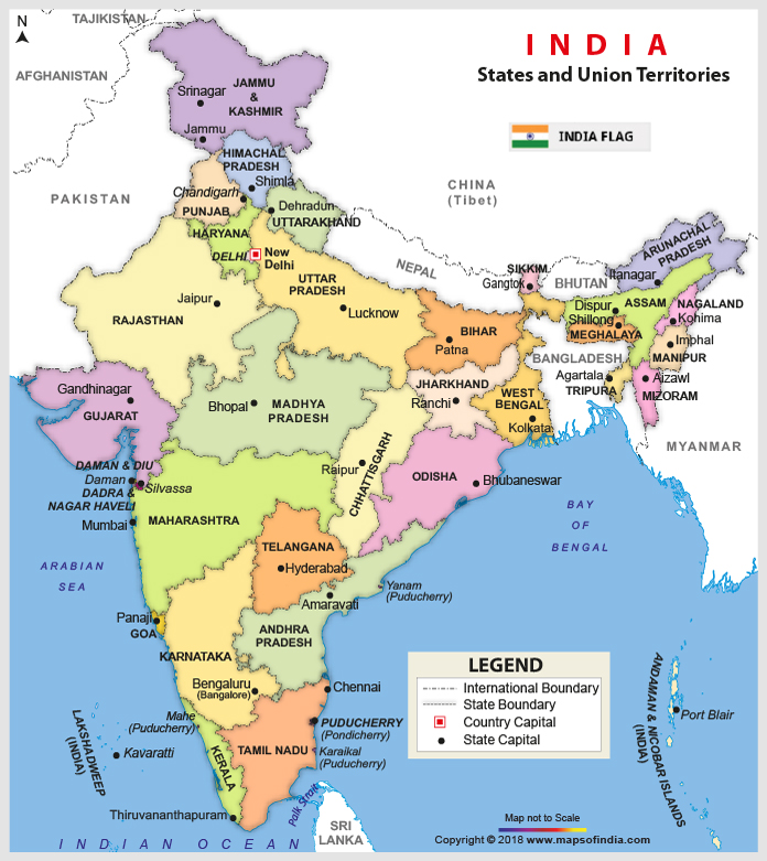 India Maps, Map of India