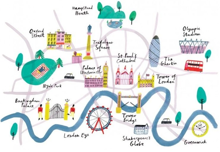London Map Illustration Image